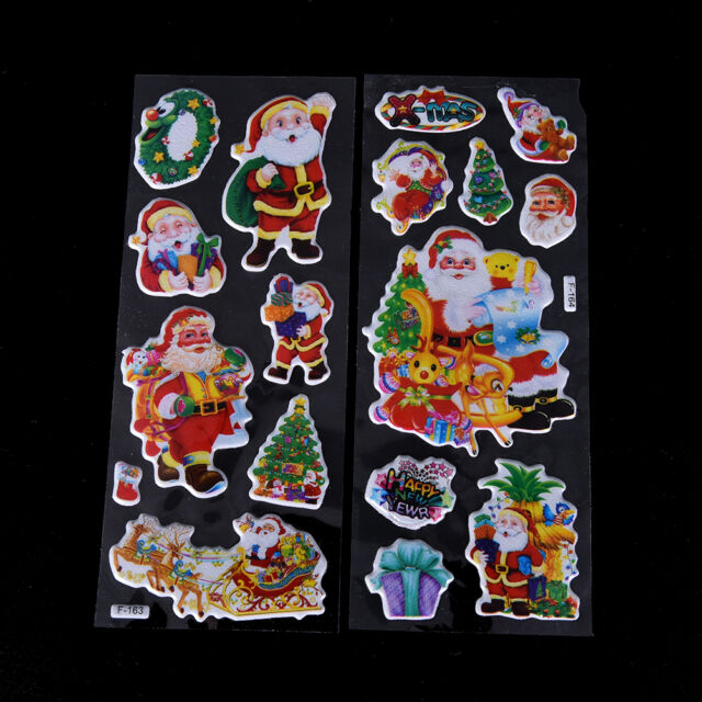 5 pcs Christmas Stickers for Kids Xmas Craft Gift Card-Making Home Decoration Nb