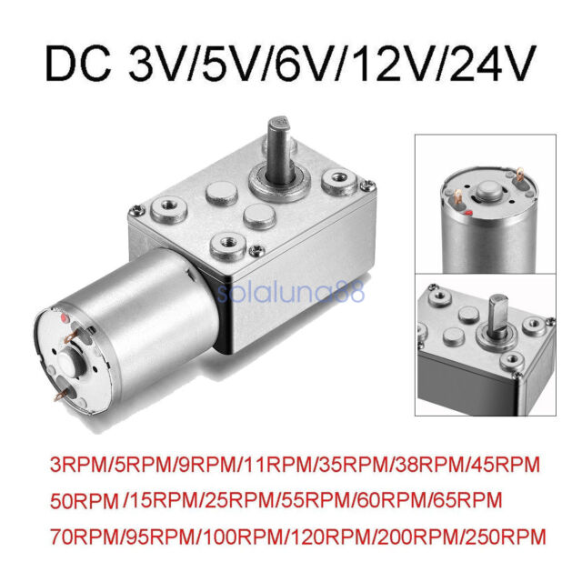 12V DC 55RPM Powerful High Torque Gear Box Motor
