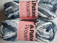 Patons Pirouette Ruffle Mesh Yarn, Twilight Sparkle, Lot Of 2 (20 Yds Each)