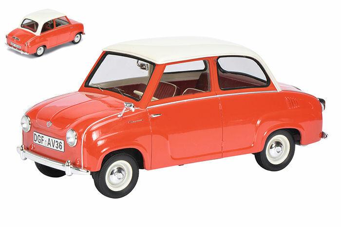 Goggomobil 1955 rosso wbianca roof 1 18 auto stradali scala schuco