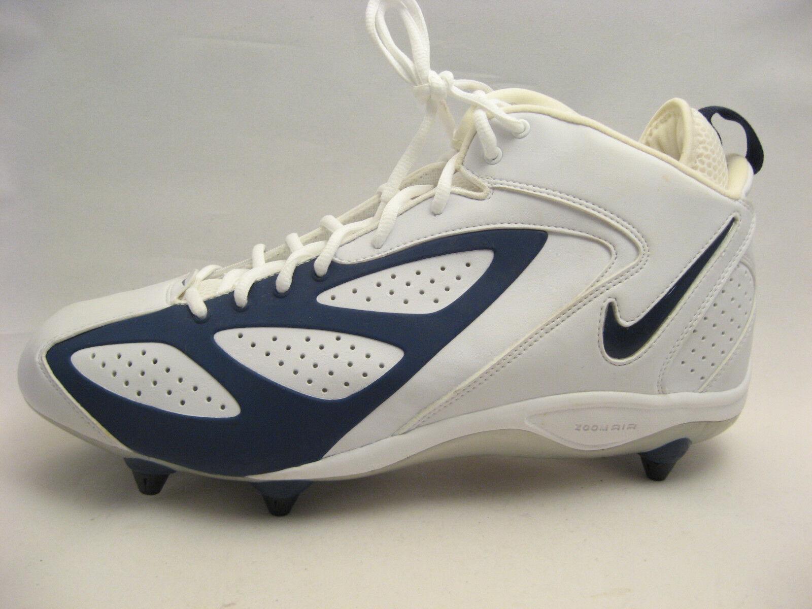 Nike Air Zoom Blade D blu Footbtutti Cleats 15 bianca Navy blu 308359-141 nuovo  95 Sautope classeiche da uomo