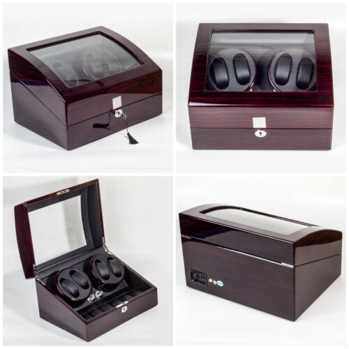 Luxus Automatik Dual Motor Uhrenbeweger Display Box 4 6 Leder Aufbewahrung