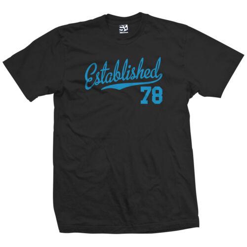 1978 39 39th Birthday Anniversary All Colors Established 78 Script Tail Shirt