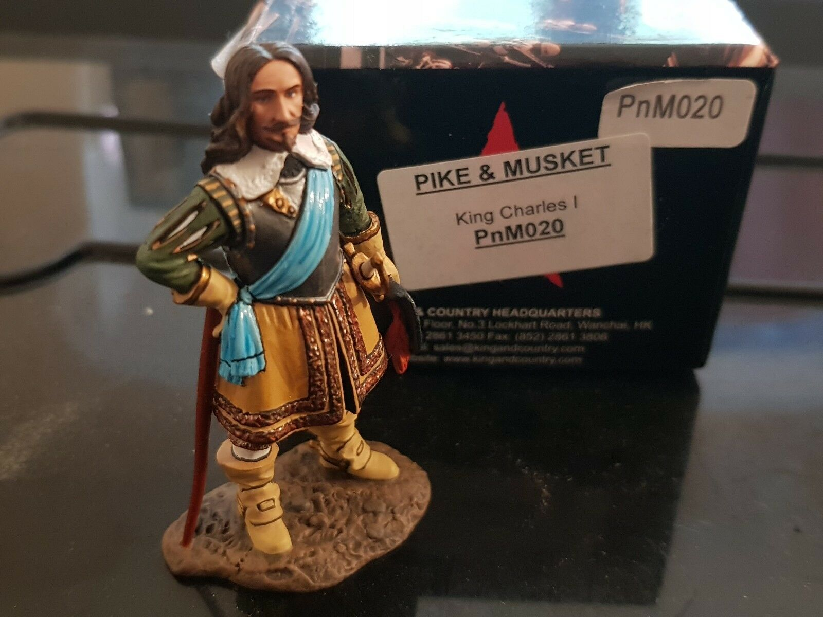 King and Country Pike and and Musket Pnm020 King Charles 1 bnib
