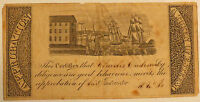 Early 1800s Reward of Merit Sailing Ships Harbor Scene #1 Approbation