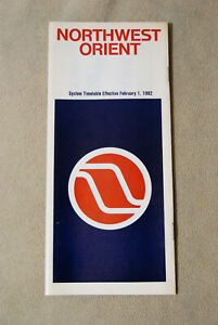 Northwest-Orient-Airlines-System-Timetable-Feb-1-1982