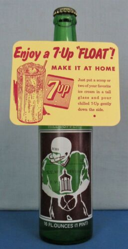 7up Die Cut 6 Pack Cardboard Topper Ice Cream Float 1953