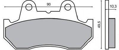 Tdj 1989 Rms 225100330 Ein BrüLlender Handel Tde Symbol Der Marke Bremsbeläge Vorne Honda Cb 125 Tdc