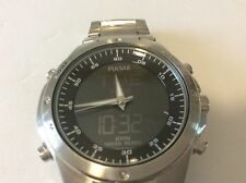 men's pulsar stainless steel analog digital watch nx14-x003 New battery