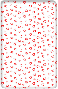 BABY FITTED COT SHEET PRINTED DESIGN100/%COTTON MATTRESS120x60cm,Big White Stars