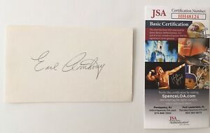 Earl-Anthony-Signed-Autographed-3x5-Card-JSA-Certified-Bowler-PBA-HOF-Bowling