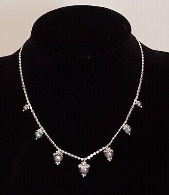 PILGRIM Halskette Kugelkette Perlen grau versibert #P29   eBay