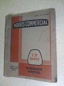 original 1950s ld morris commercial van ld1 ld2 range truck workshop rh ebay com au Store Workshop Manual Professional Workshop Manuals