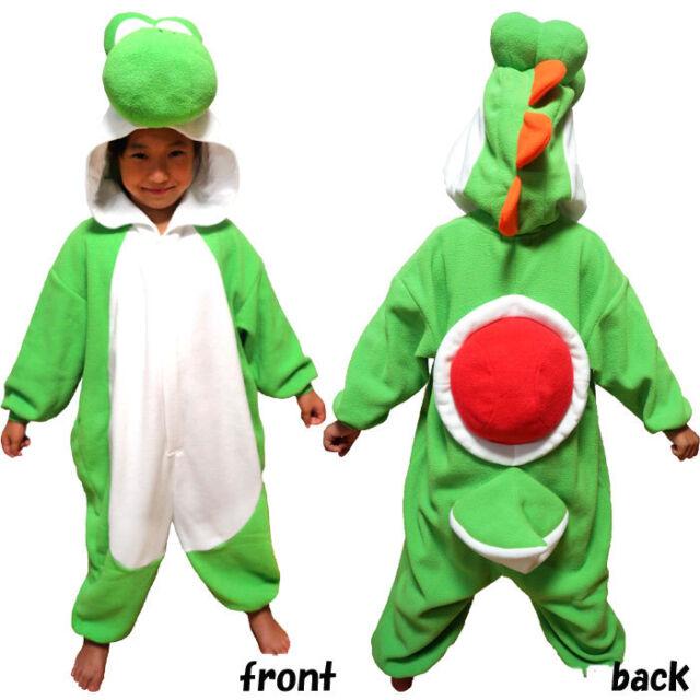 Buy Super Mario Cosplay Costume 130cm Yoshi Nintendo Kids Fleece