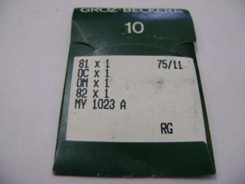 10 SIZE 75//11 GROZ-BECKERT 81X1 DCX1 621 MY1023 A SEWING MACHINE NEEDLES A121