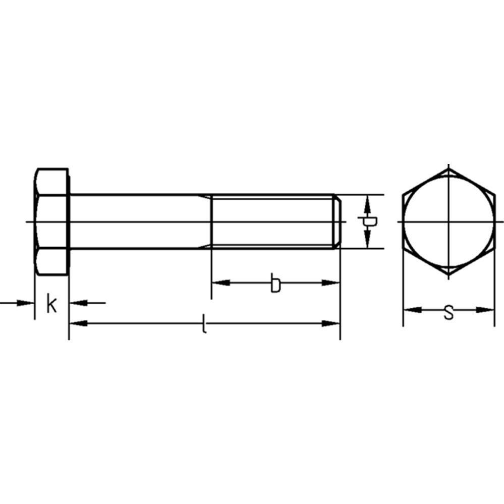 HV-Sechskantschraube 10.9 DIN EN 14399-4 Peiner CE-Zeichen HV-feuerverz M12-M16