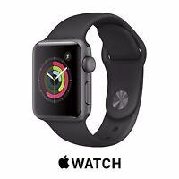Apple Watch SERIES 1 42mm SPACE GRAY Aluminum Case BLACK Sport MP032LL