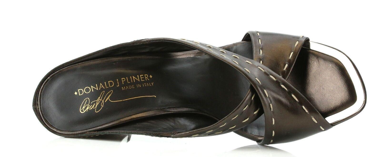 Donald NIDRA J Pliner NIDRA Donald Braun Leder Wedge Sandales 7258 Größe 8.5 M NEW 220cdb