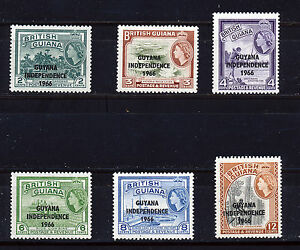 GUYANA 1966 DEFINITIVES SG378/383 BLOCKS OF 4 MNH
