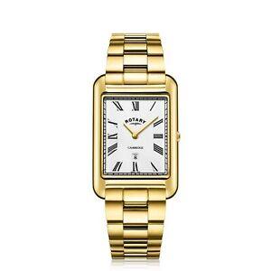 Rotary-GB05283-01-Men-039-s-Cambridge-Oblong-Wristwatch