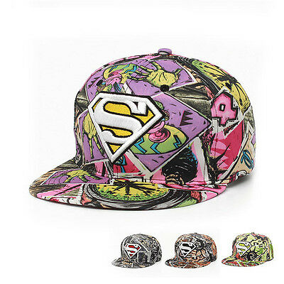 Street Hip Hop Hats Baseball Cap Superman Snap Back Snapback Cap Adjustable Hat