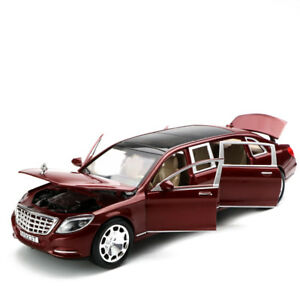 1-24-Mercedes-Maybach-S600-Limousine-Diecast-Metal-Model-Car-Toy-New-in-Box-Wine