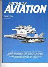 AUSTRALIAN AVIATION MAGAZINE 8/1997 AIRLINE-MILITARY-PRIVATE AIRCRAFT NEWS