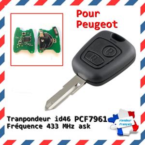 Cle-vierge-electronique-avec-transpondeur-ID46-PCF7961-pour-PEUGEOT-206-206CC