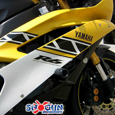 Shogun 2008-2016 Yamaha YZF-R6 Black No Cut Frame Sliders 750-6349 MADE IN THE USA