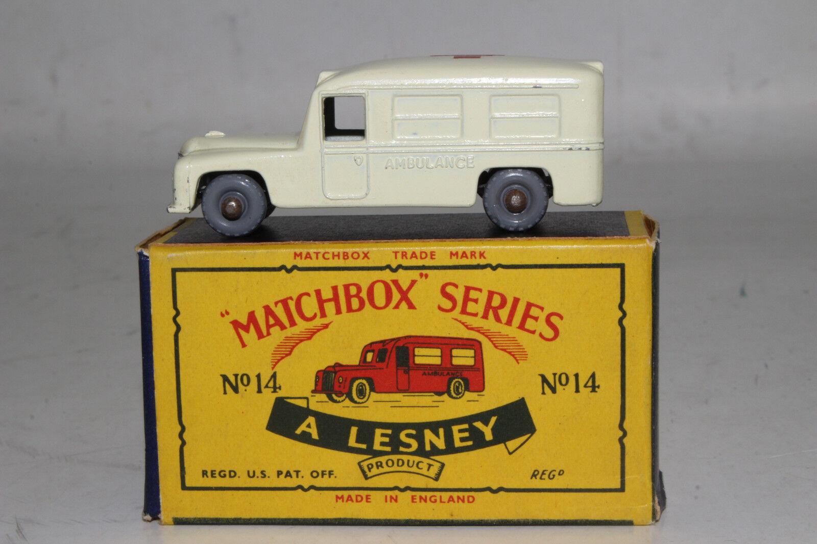 Matchbox Lesney b Daimler Ambulancia, Gpw ,Excelente, Escasa Caja Tipo C