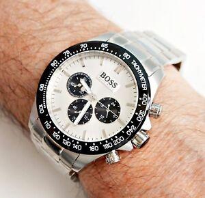 bester Lieferant professioneller Verkauf gute Qualität Details zu Hugo Boss 1512964 ikon herrenuhr farbe silber schwarz neu