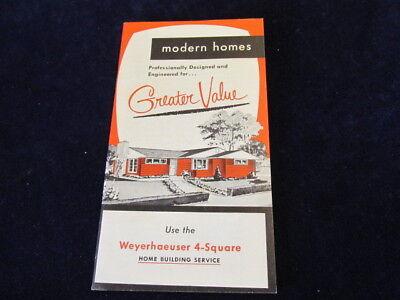 Weyerhaeuser 4-square Modern Häuser Katalog 1956 Haus Boden Plan Bulding Q499 SchöNer Auftritt Heimwerker