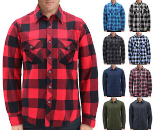 Men-s-Plaid-Long-Sleeve-Button-Up-Premium-Cotton-Comfortable-Flannel-Shirt