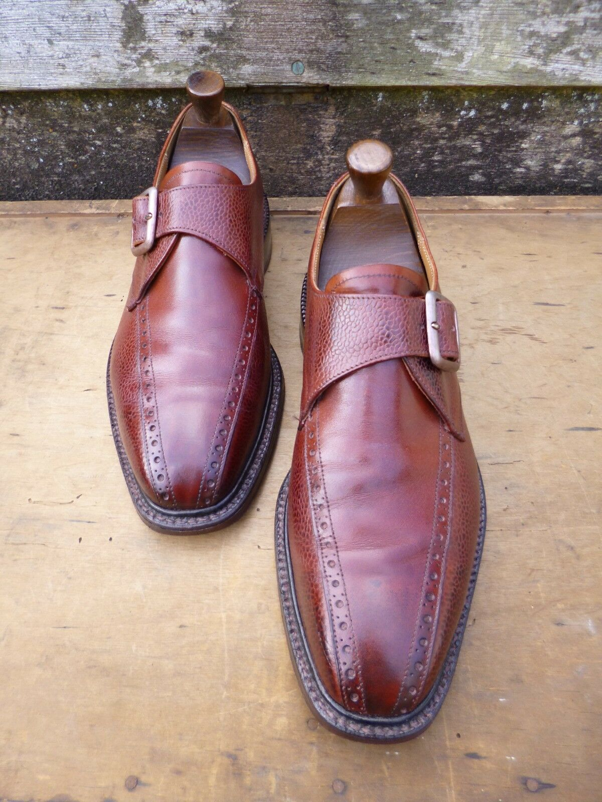CHEANEY / CHURCH MONK STRAP – – – BROWN / TAN – UK 7.5 – GOUGH-EXCELLENT  CONDITION 954fa0