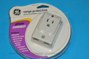 GE-Surge-Protector-Phone-Modem-Protection-w-6ft-Phone-Cord