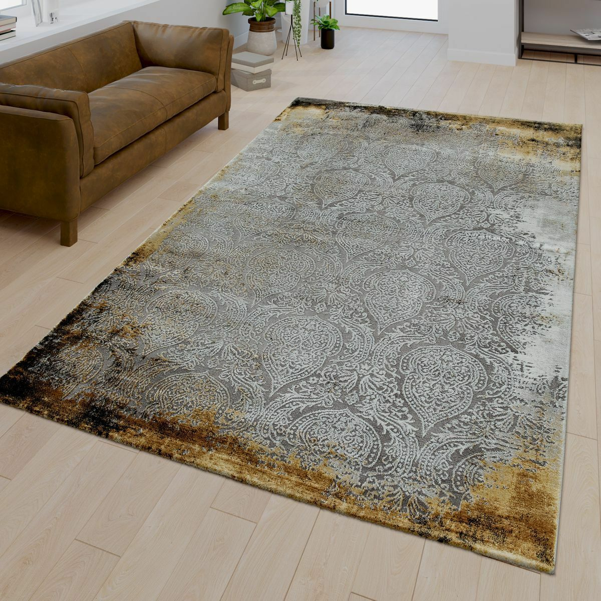 Wohnzimmer Muster| Teppich| 3D Optik| Moderne Orient Muster ...