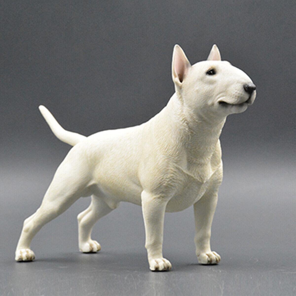 1 4 Bull Terrier Bulldog Dog Pet Figure Blslterrier Animal Model Collector Toy