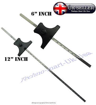 Stainless Steel Ruler Engineers Depth Gauge Metric /& Imperial 0-150mm SIL335