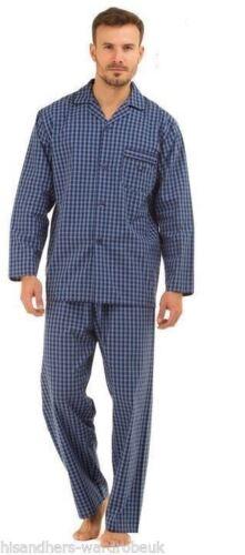 Haigman Mens Poplin 100/% Cotton Pyjama Set Lightweight Pyjama Pjs Size UK M-XXL