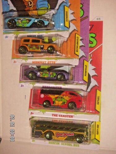 Hot Wheels Teenage Mutant Ninja Turtles Full Set of 5//5 Nick