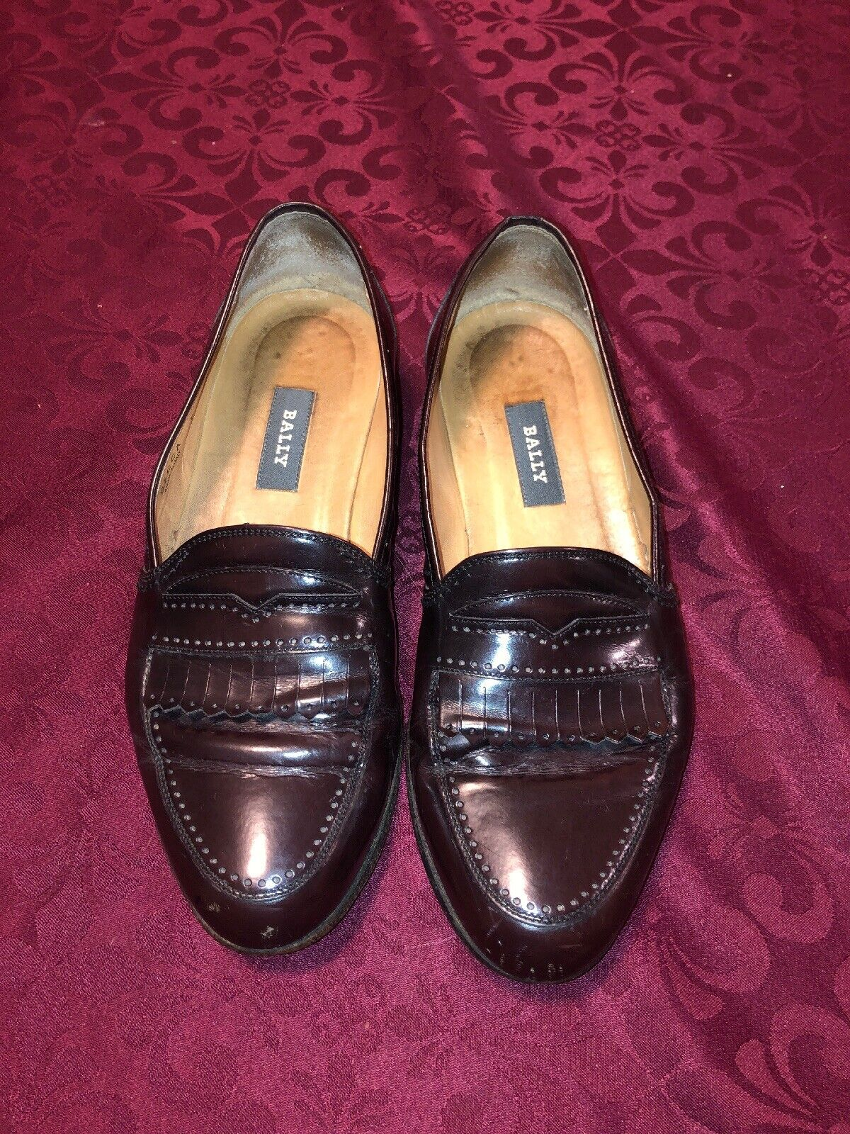 Bally Decca Brown Italian slip on loafers Mens dress shoes sz 8