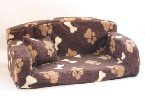 Details About SHERPA FLEECE,PET SOFA. NICE SETTEE. VERY SOFT DOG U0026 CAT BED  ANIMAL COUCH