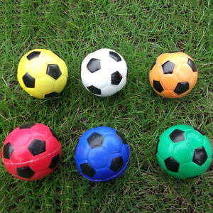 Football Ball Exercise Stress Relief Squeeze Elastic Soft Foam Ball 6.3cm AAA