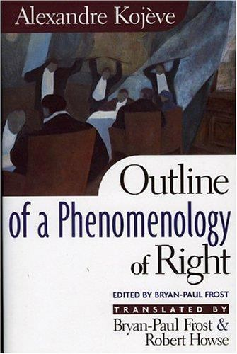 Outline of a Phenomenology of Right, Alexandre Kojeve, Very Good Book