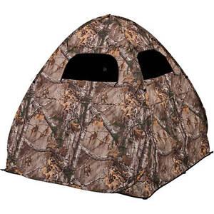 Ground Hunting Blind Portable Deer Pop Up Camo Hunter Weather Proof Hunter Tent