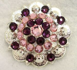 Berry Concho ~ Handcrafted with Purple and Pink  Swarovski Elements