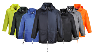 Portwest-Classic-Rain-Jacket-Waterproof-Work-Coat-Hooded-Zipped-Breathable-S440