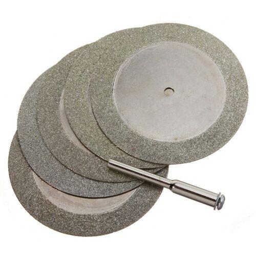 5pcs 50mm Diamond Cutting Discs /& Drill Bit For Rotary Tool Glass Metal I6S1