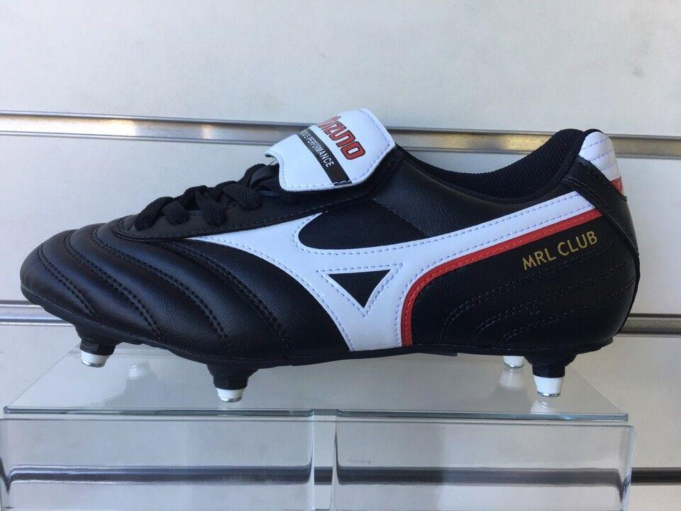 458470c597c78 Scarpa da Calcio Mizuno Morelia Club si bullonata Nero bianco rosso ...
