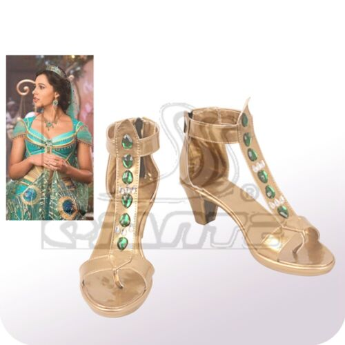 2019 Princess Jasmine Costume Shoes Halloween Cosplay Comic Con Women Shoes